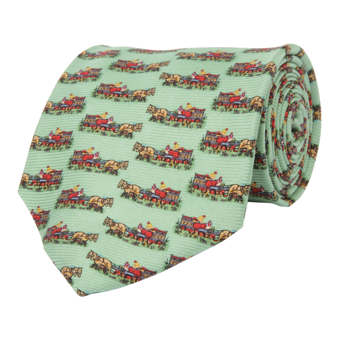 Wm. Lamb & Son - Quail Wagon Tie - Green